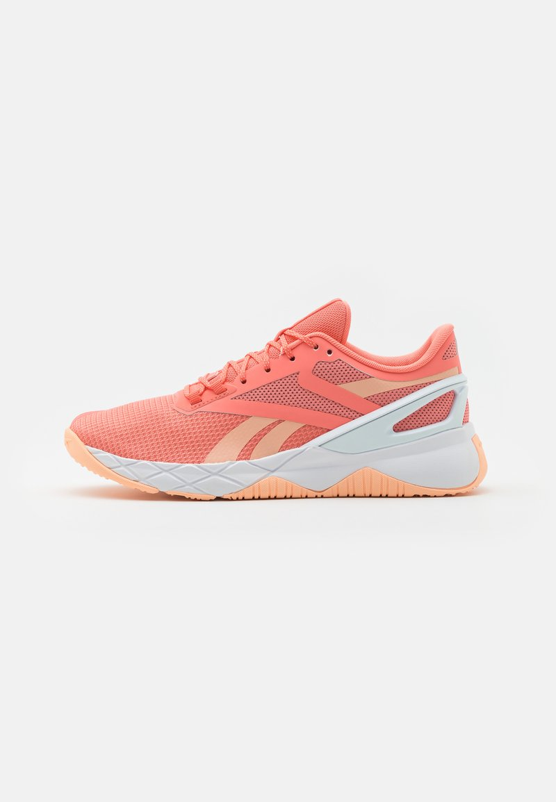 Reebok - NANOFLEX TR - Sports shoes - coral/orange/footwear white