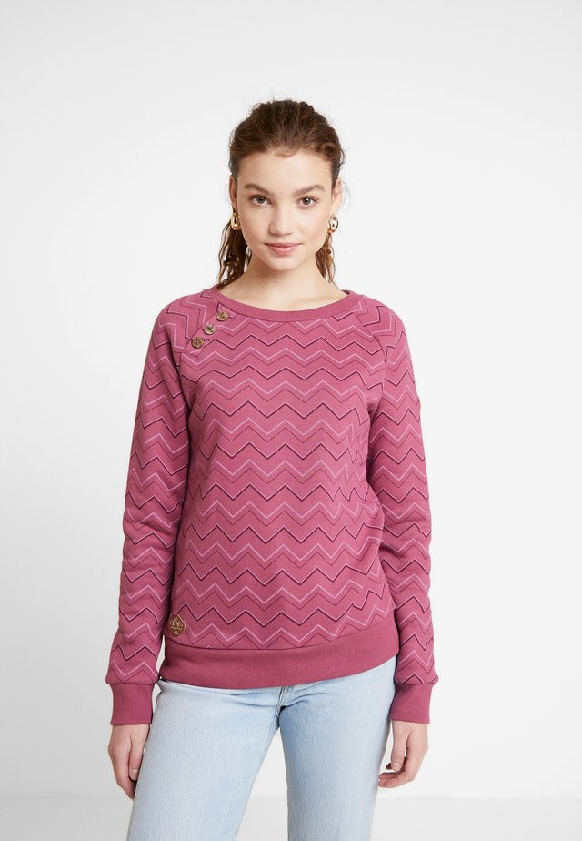 DARIA ZIG ZAG - Sweatshirt - rose