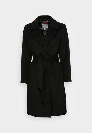 BLEND BELTED COAT - Classic coat - black