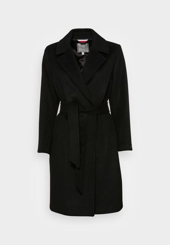 BLEND BELTED COAT - Cappotto classico - black