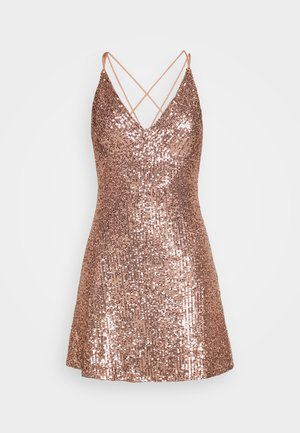 STRAPPY SEQUIN MINI - Cocktail dress / Party dress - nude