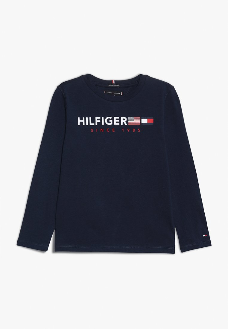 Tommy Hilfiger - FLAGS GRAPHIC TEE  - Longsleeve - blue
