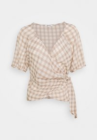 Madewell - LUCY WRAP IN GINGHAM - Bluser - brown/white - 3