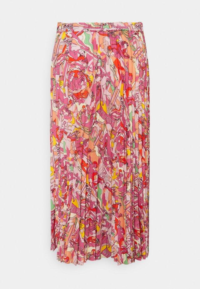 GONNA TESSUTO - Pleated skirt - multi