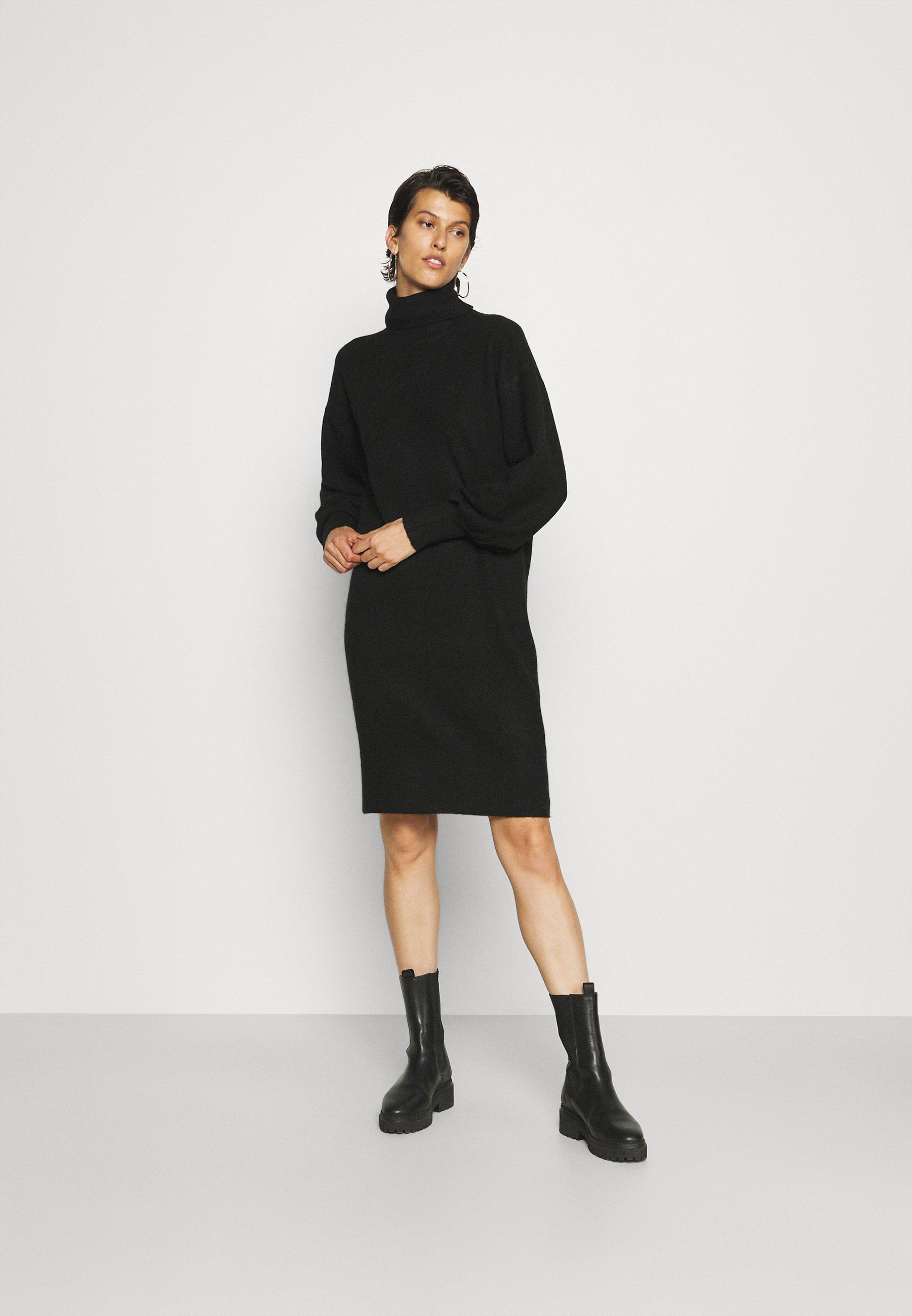 Women PCFABIA  HIGH NECK DRESS  - Jumper dress