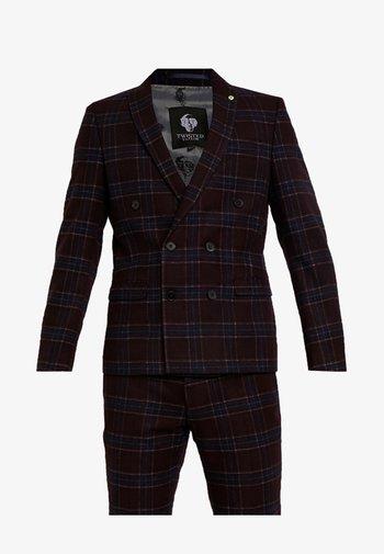 LYDON SUIT SLIM FIT - Suit - burgundy