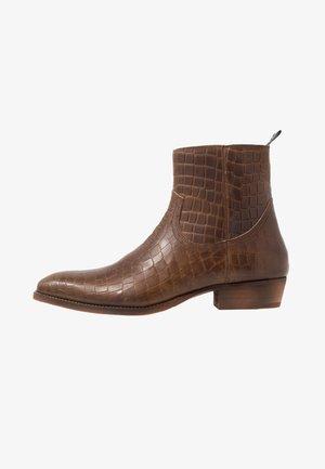 YAGER - Cowboy- / bikerstøvlette - brown