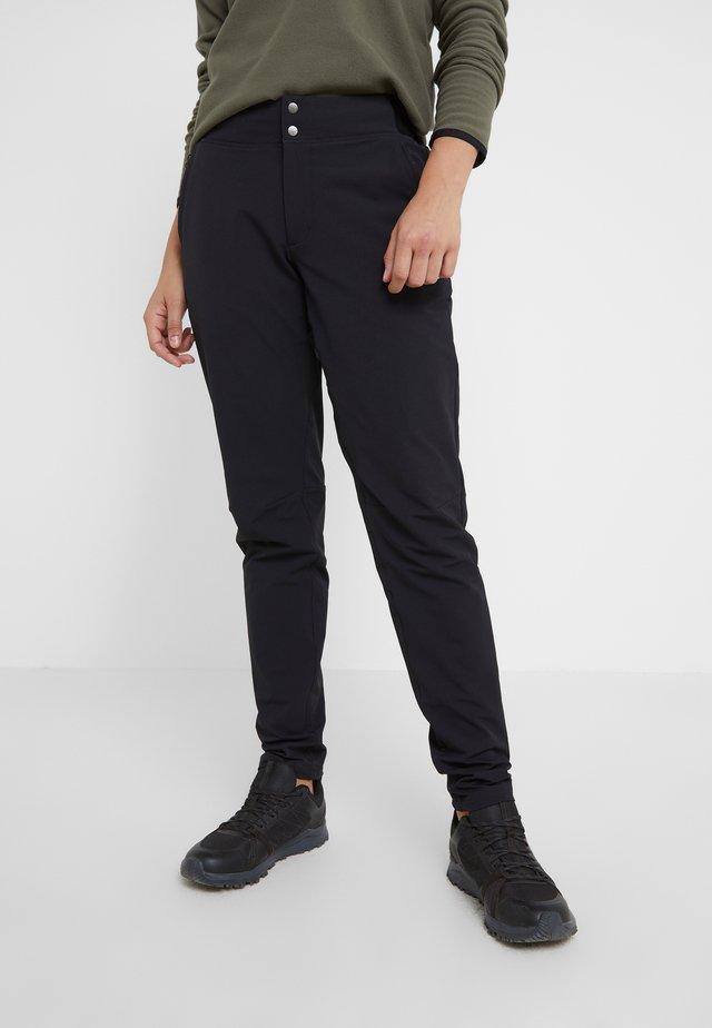 QUEST PANT SLIM - Długie spodnie trekkingowe - black