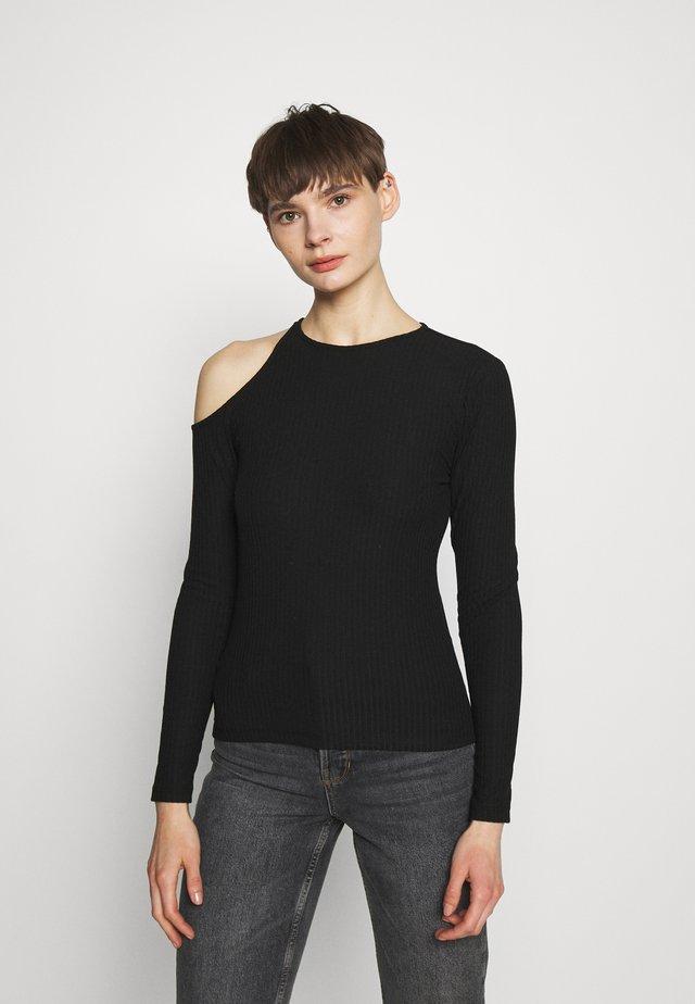 ONLNELLA PEEK A BOO - Camiseta de manga larga - black