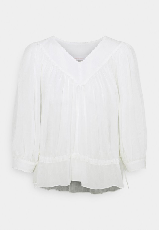 Bluse - crystal white