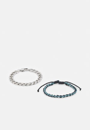 TOTUM MIXED WRISTWEAR WITH CHAIN ROW 2 PACK - Bracciale - silver-coloured