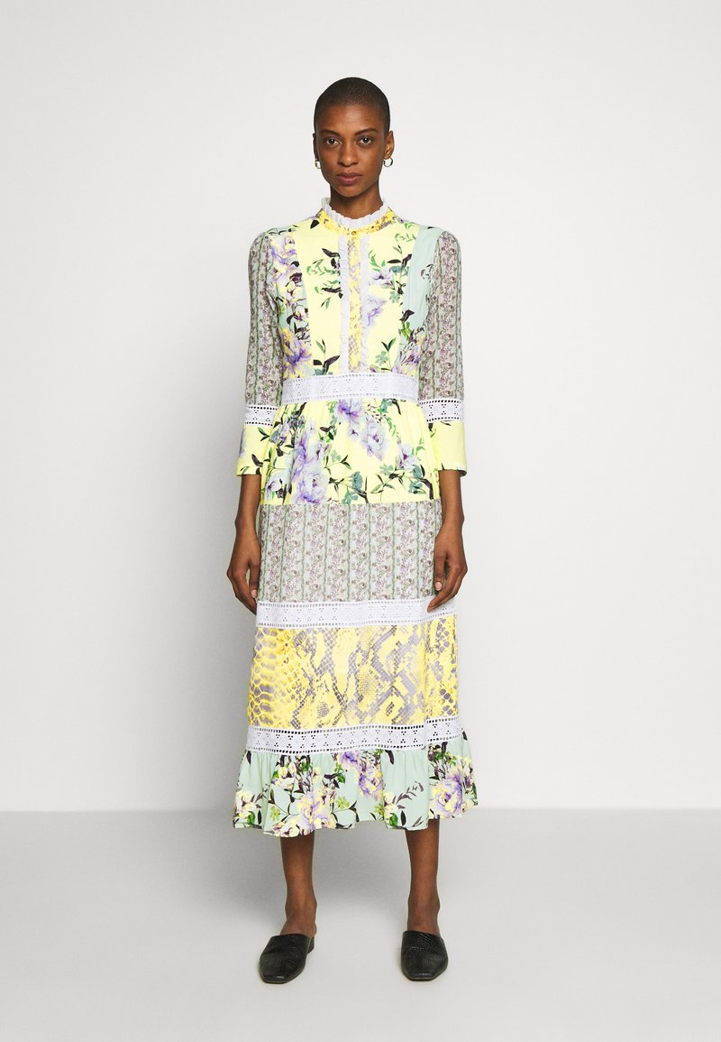 Rich & Royal - MAXI DRESS PRINTMIX - Shirt dress - multi-coloured