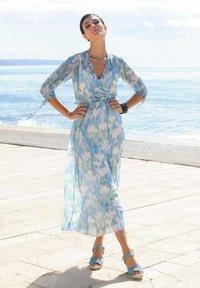 Alba Moda - Maxi dress - blau/off-white - 3