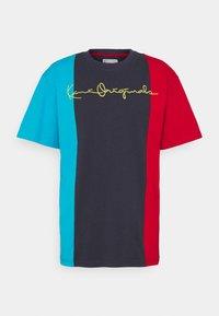 ORIGINALS BLOCK TEE - T-shirt z nadrukiem - navy