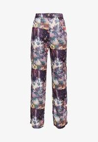Missguided - FLORAL TROUSERS - Pantalones - purple - 3