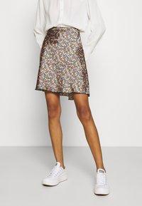 Lindex - SKIRT MEDEA SHORT - A-line skirt - black - 0