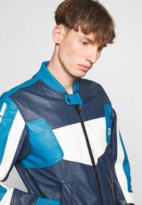 Diesel - L-MAY JACKET - Leather jacket - blue - 3