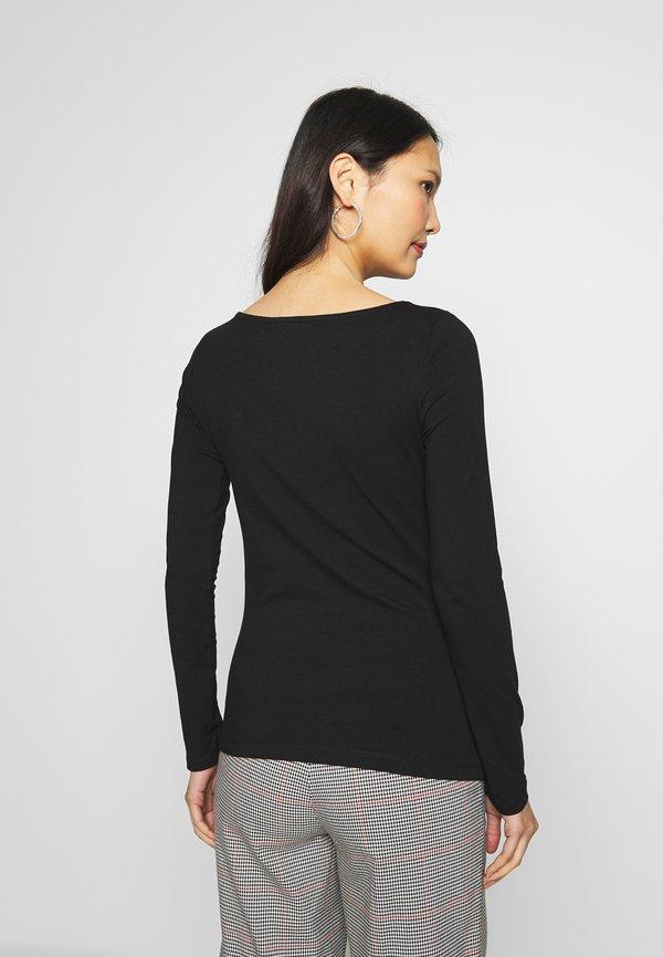 Anna Field 2 PACK - Bluzka z długim rękawem - black Kolor jednolity Odzież Damska TCKT RD 3