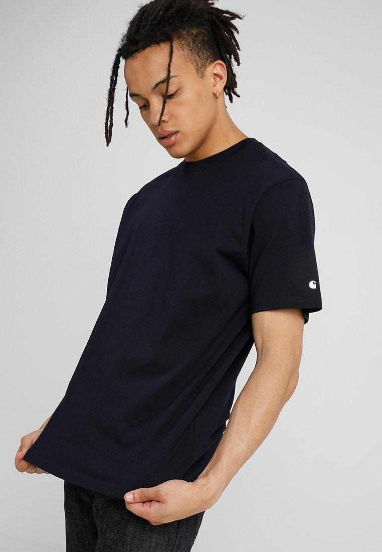 Carhartt WIP - BASE  - Basic T-shirt - dark navy/white