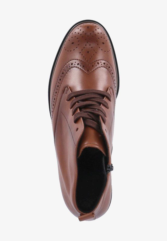 VERA - Lace-up ankle boots - cognac