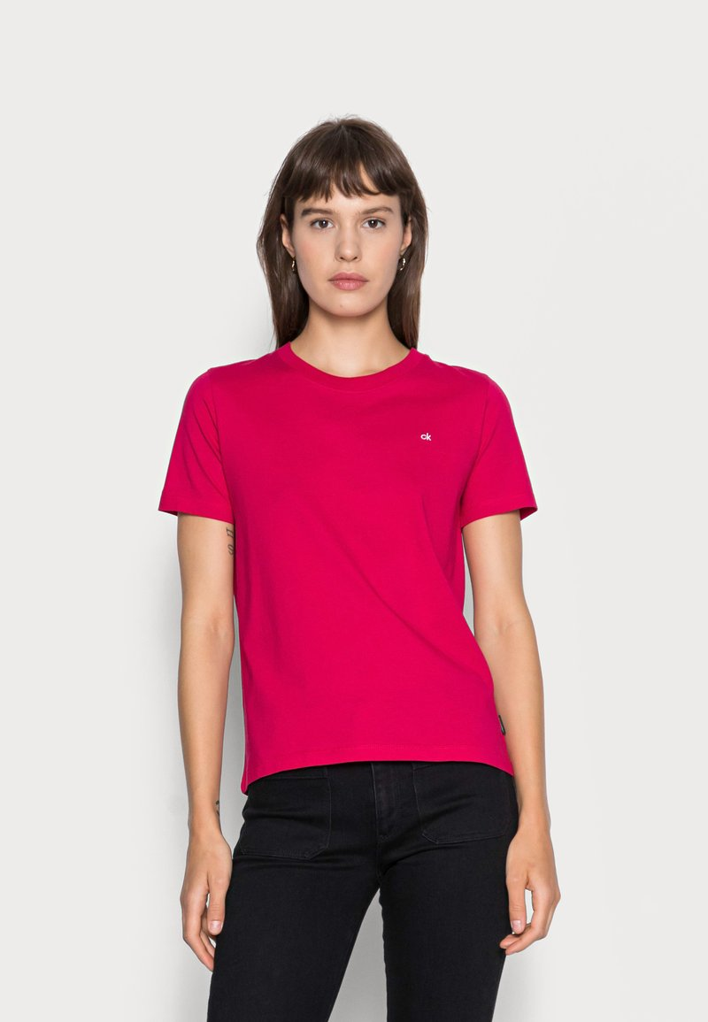 Calvin Klein - SMALL NECK  - Basic T-shirt - red