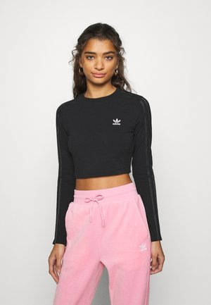 CROP - Topper langermet - black