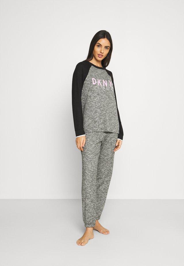 SET - Pyjama - black marled