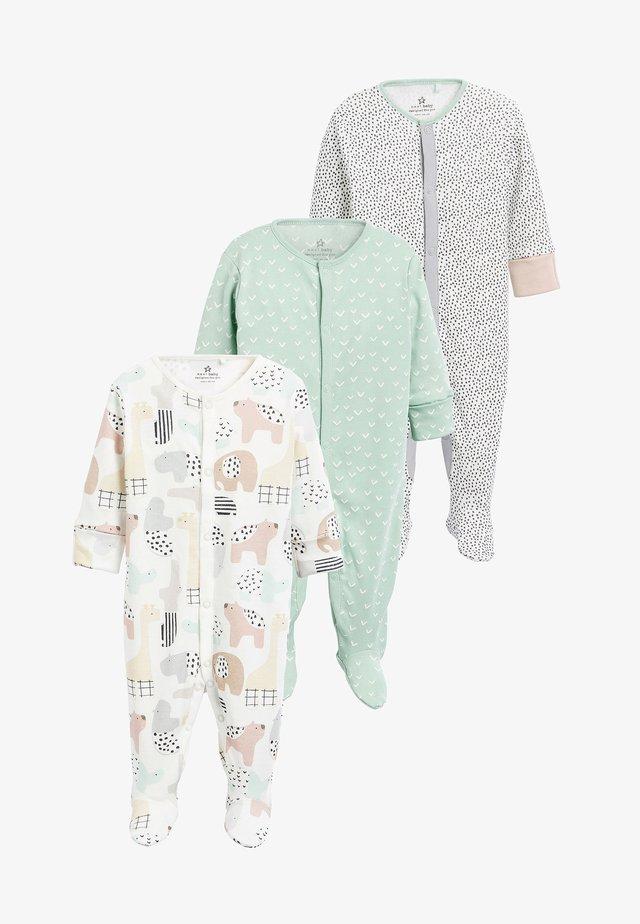 3 PACK GOTS ORGANIC CHARACTER SLEEPSUITS - Pyjamas - off-white
