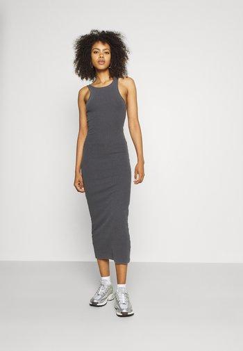 STELLA DRESS - Vestito di maglina - off black