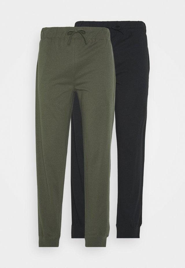 2 PACK - Pantalón de pijama - black/khaki