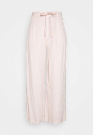 SUPER HIGH RISE WIDE LEG - Trousers - peach