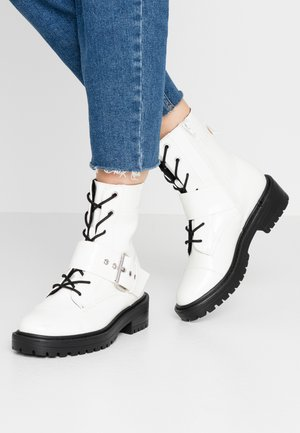 Botines camperos - offwhite