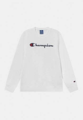 CHAMPION LOGO CREW NECK UNISEX - Sweater - white