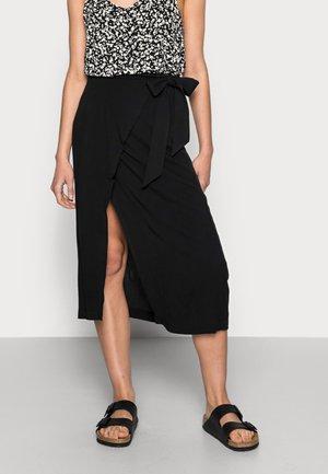MINORA WRAP SKIRT - Wrap skirt - black