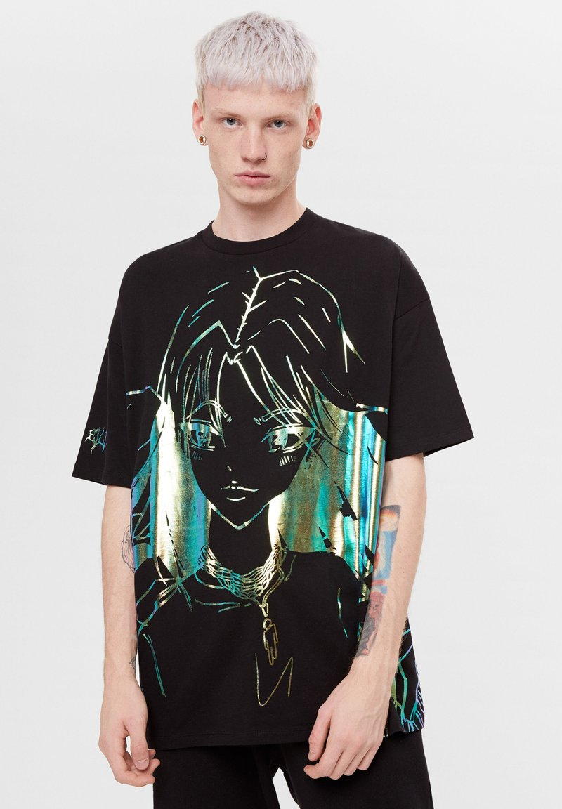 Bershka - MIT PRINT BILLIE EILISH X - T-shirts print - black