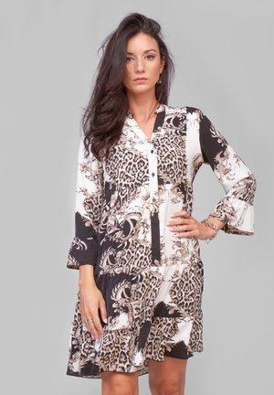Vestido camisero - black/white