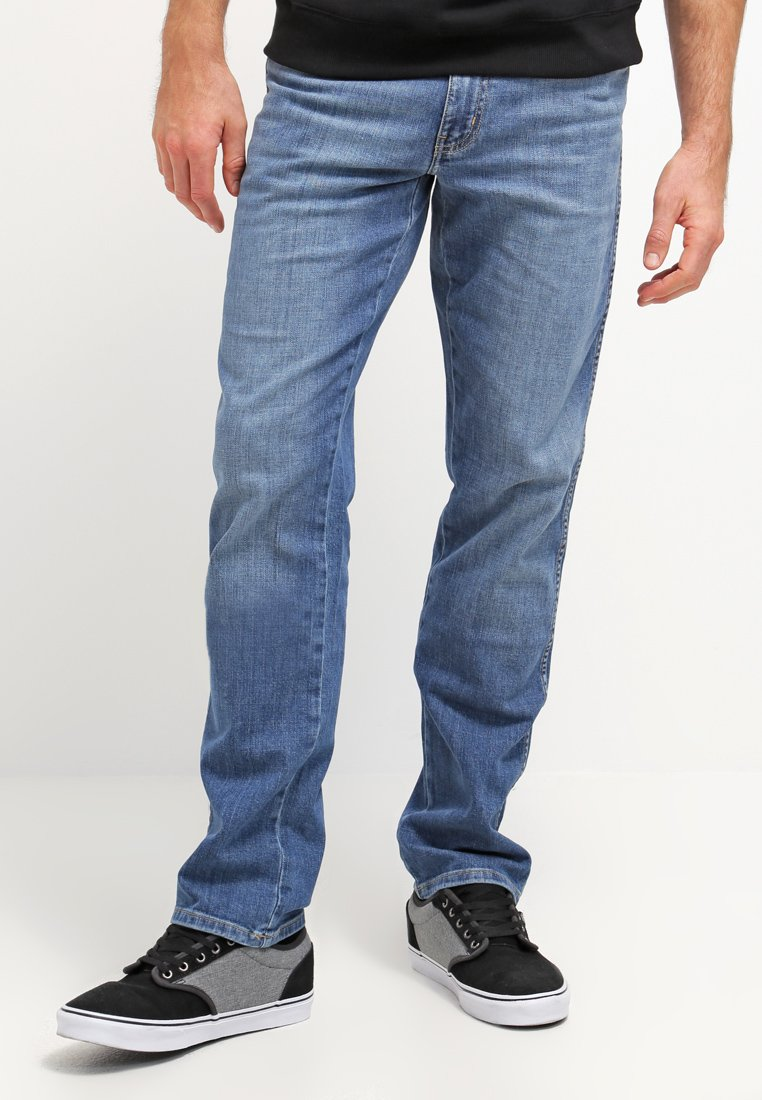Wrangler - TEXAS STRETCH - Straight leg jeans - worn broke