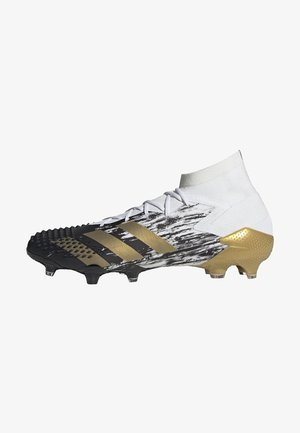 FOOTBALL FIRM GROUND - Moulded stud football boots - ftwwht/goldmt/cblack