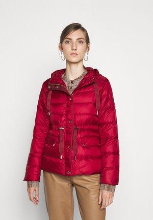 LOGO PUFFER - Down jacket - maroon