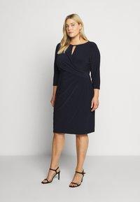 Lauren Ralph Lauren Woman - CARLONDA-LONG SLEEVE-DAY DRESS - Sukienka letnia - lighthouse navy - 0
