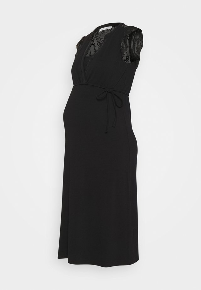DRESS NURS SERRE - Robe en jersey - black