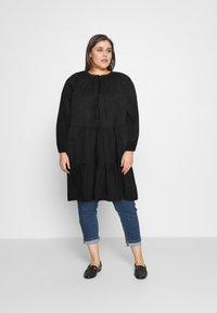 Glamorous Curve - Denní šaty - black cotton - 1