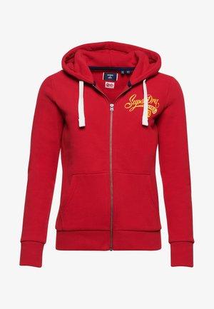Zip-up hoodie - chilli pepper