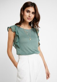 Anna Field - Print T-shirt - dark green - 0