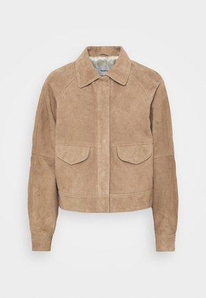 KYLIE - Leather jacket - sand
