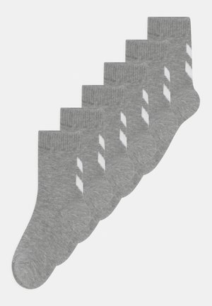 MAKE MY DAY 6 PACK UNISEX - Sports socks - grey melange