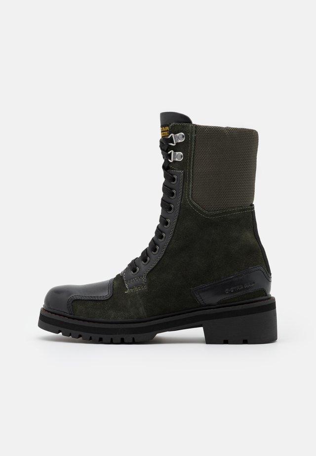 DUTY UTILITY BOOT - Bottines à lacets - dark combat/black