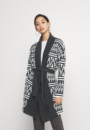 Strickjacke - black w cloud dancer