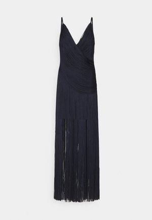 DRAPED FRINGE DEEP GOWN - Iltapuku - dark navy