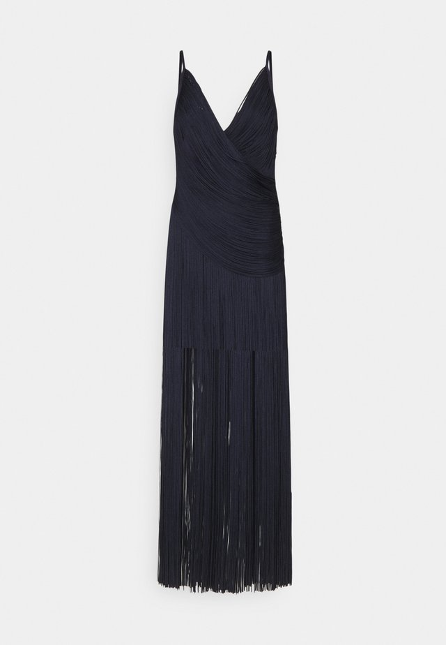 DRAPED FRINGE DEEP GOWN - Abito da sera - dark navy